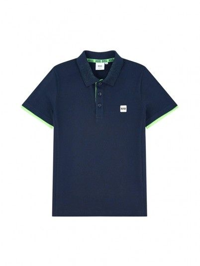 Polo Shirt Boy Navy Blue Hugo Boss