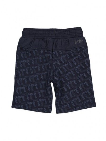 Shorts Boy Hugo Navy Blue Hugo Boss