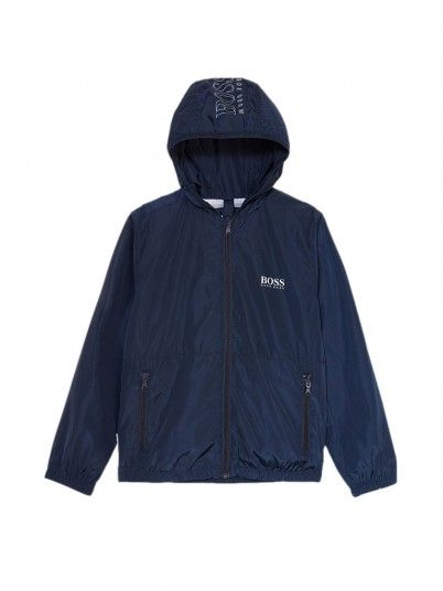 Jacket Boy Hugo Navy Blue Hugo Boss