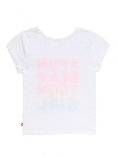 T-Shirt Ragazza Bianco Billie Blush
