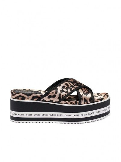 Slippers Woman Remina Animal Print Guess