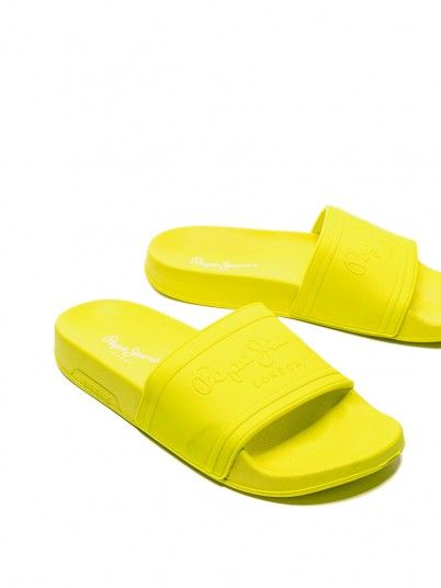 Slippers Woman Slider Lemon Yellow Pepe Jeans Footwear