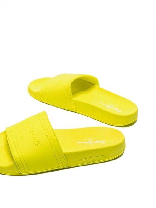 Flip Flops Woman Lemon Yellow Pepe Jeans London