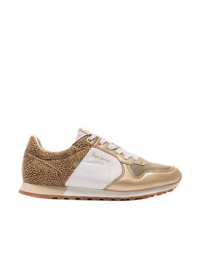 Sneakers Woman Golden Pepe Jeans London