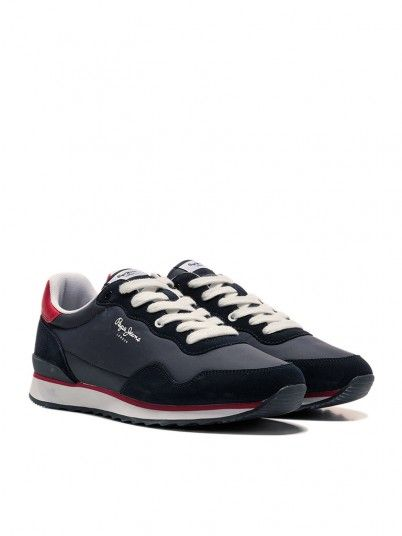 Sneakers Man Cross Navy Blue Pepe Jeans Footwear