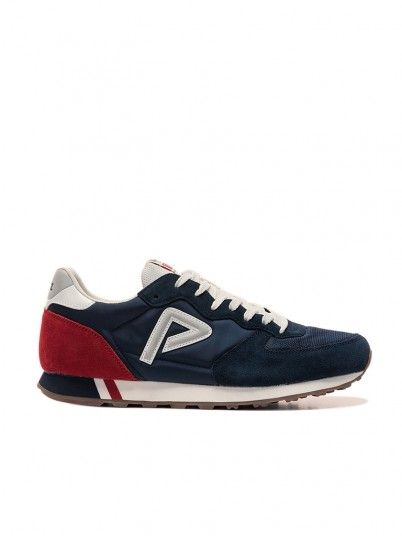 Sneakers Man Navy Blue Pepe Jeans London