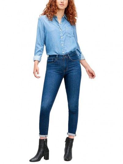Jeans Donna 721 Jeans Scuri Levis