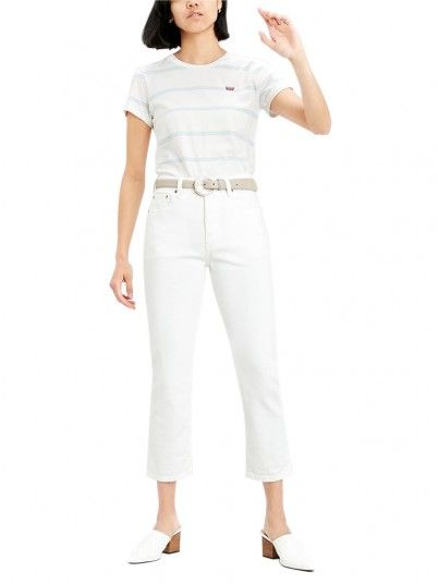 Pantaloni Donna 501 Bianco Levis
