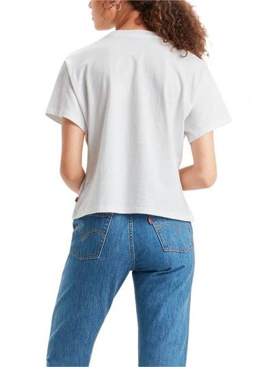T-Shirt Woman Graphic White Levis