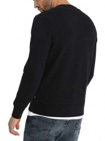 Sweatshirt Man Graphic Black Levis