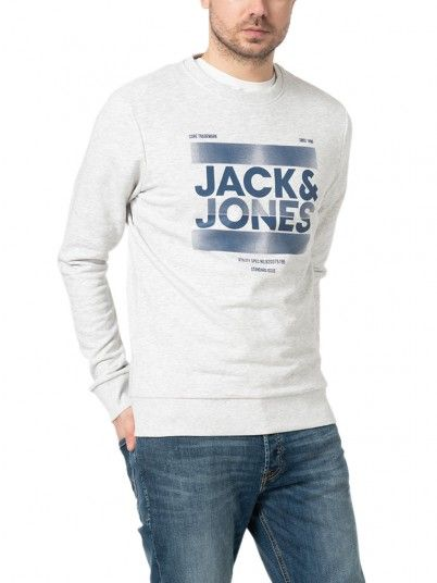 Sweatshirt Uomo Grigio Jack & Jones