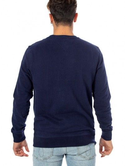 Sweatshirt Man Essential Navy Blue Tommy Jeans
