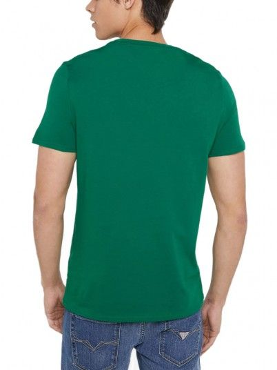 T-Shirt Man Green Guess