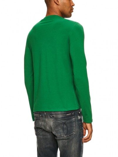 Sweatshirt Man Green Guess