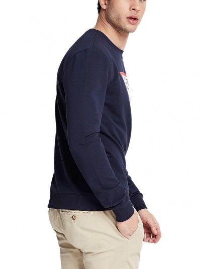 Sweatshirt Man Audley Navy Blue Guess