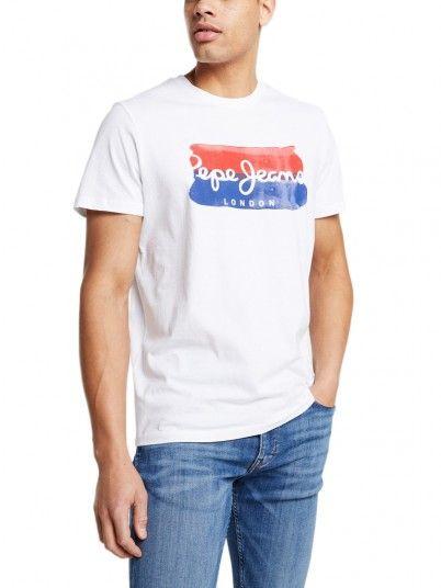 T-Shirt Uomo Bianco Pepe Jeans London