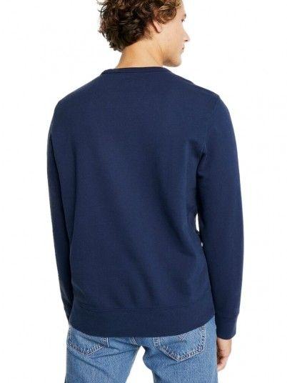 Sweatshirt Man Graphic Navy Blue Levis
