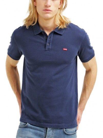 Polo Shirt Man Navy Blue Levis