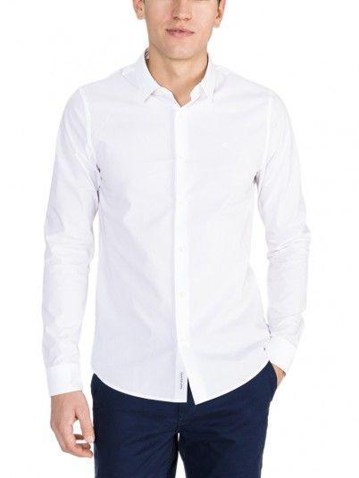 Camisa Hombre Blanco Calvin Klein