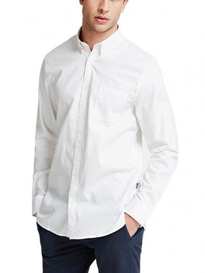 Shirt Man Jefferson White Guess