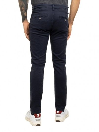 Pants Man Navy Blue Pepe Jeans London