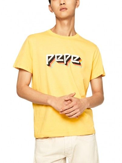 T-Shirt Man Yellow Pepe Jeans London
