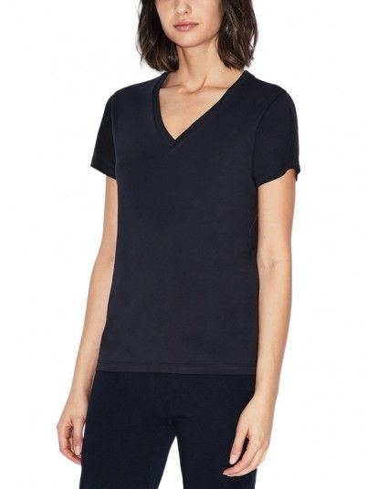 T-Shirt Woman Black Armani Exchange