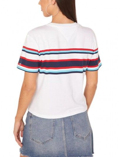 T-Shirt Mulher Stripe Tommy Jeans