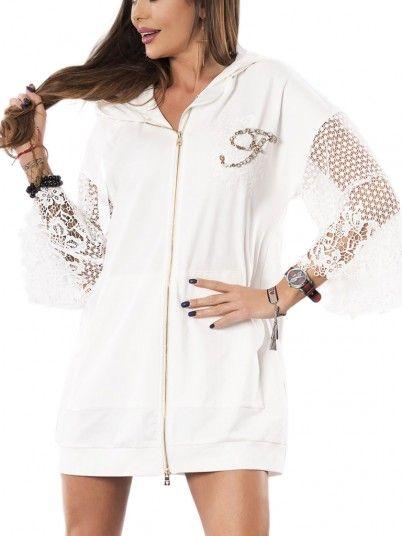 Jacket Woman Fracomina White Fracomina