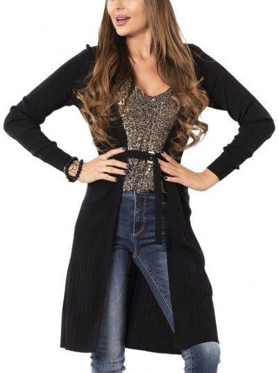 Jacket Woman Mulher Black Fracomina
