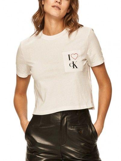 T-Shirt Mulher I Love Calvin Klein