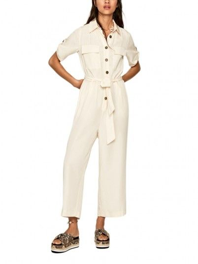 Overall Woman Beige Pepe Jeans London