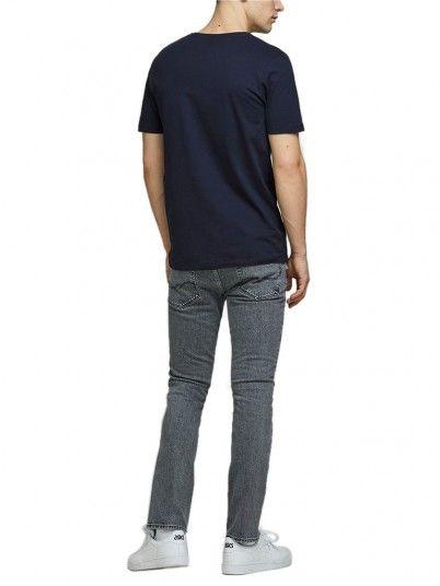 T-Shirt Uomo Blu Navy Jack & Jones