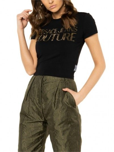 T-Shirt Donna Nero Versace
