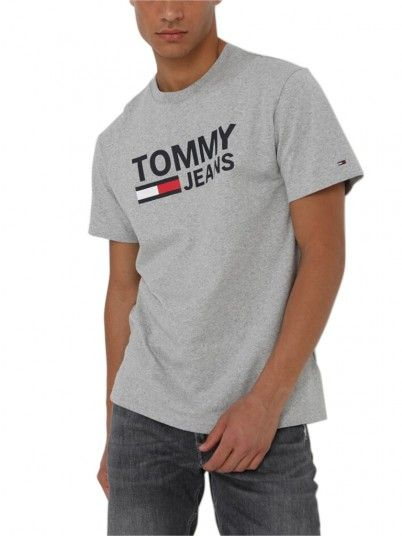 T-Shirt Man Corp Grey Tommy Jeans