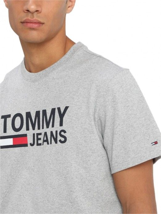 T-Shirt Man Grey Tommy Jeans
