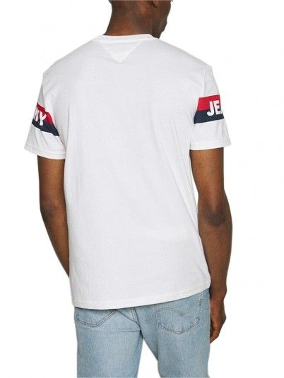 T-Shirt Man Double White Tommy Jeans