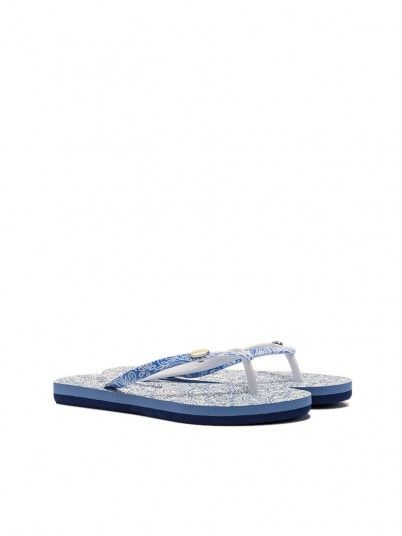 Tongs Fille Bleu Pepe Jeans London