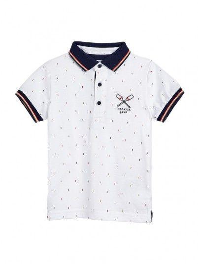 Polo Shirt Boy White Mayoral