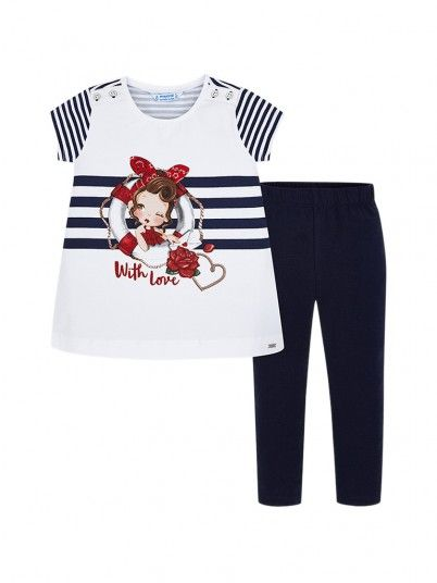 Set Girl Riscas Navy Blue Mayoral