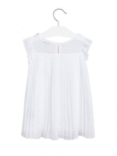 Dress Girl Chiffon White Mayoral