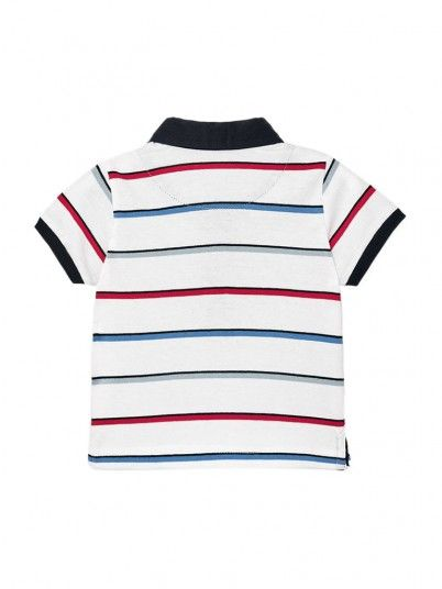 Polo Shirt Baby Boy White Mayoral