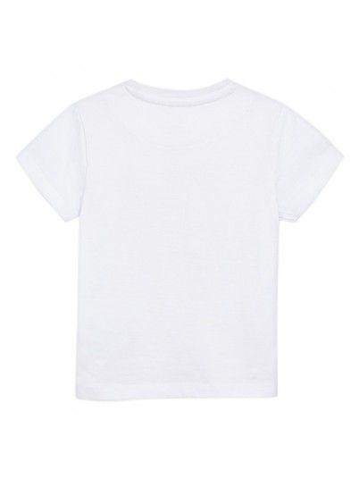 T-Shirt Ragazzo Bianco Mayoral