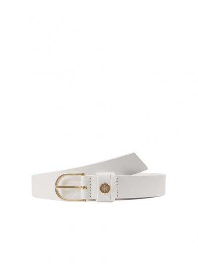 Belt Woman White Tommy Jeans