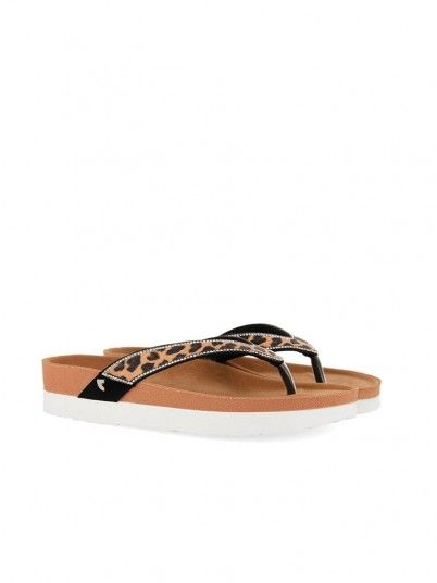 Slippers Woman Flager Animal Print Gioseppo