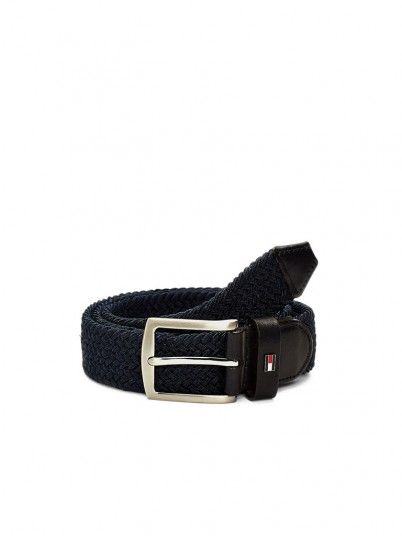 Cinturon Hombre Azul Marino Tommy Jeans