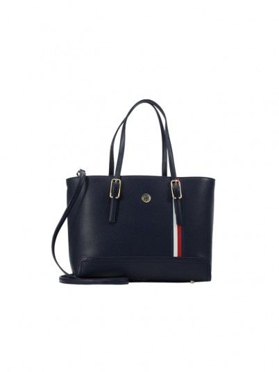 Handbag Woman Honey Navy Blue Tommy Jeans Footwear