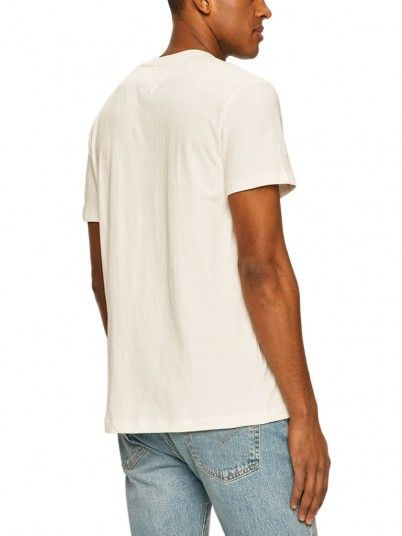 T-Shirt Man Texture White Tommy Jeans