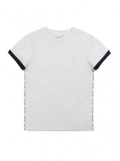 T-Shirt Boy White Hugo Boss