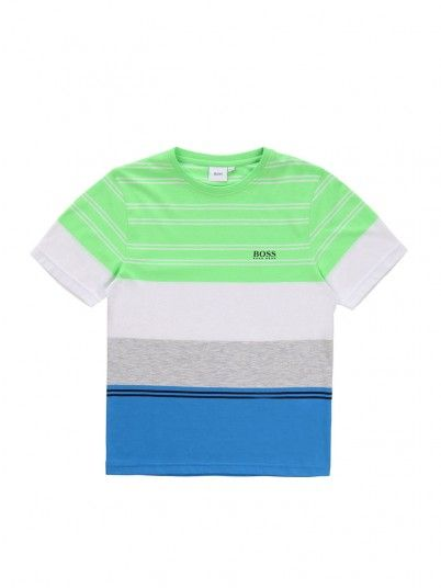 T-Shirt Boy Green Hugo Boss